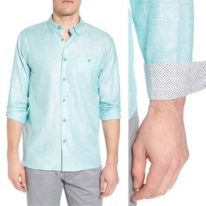 Linen Blend Shirt by Ted Baker | NWT
